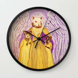 """""""Bixby - Monarch of Rodentia"""" Wall Clock"""