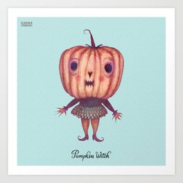 Pumpkin Witch Art Print