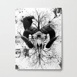 Wings and Horns of Death Metal Print