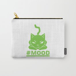 #MOOD Cat Green Carry-All Pouch