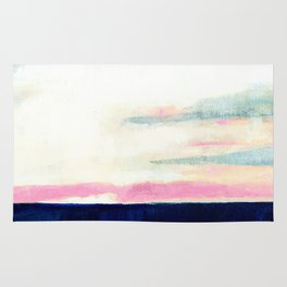 Over the dunes abstract landscape Rug