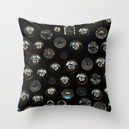 Transparent Buttons Scanograph Throw Pillow