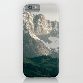 Mountain Peaks in Summer | Landscape Photography Alps | Print Art iPhone Case
