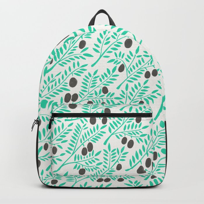 Olive Branches – Turquoise & Black Palette Backpack