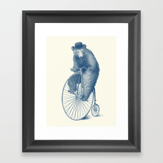 Morning Ride - Blue Option Framed Art Print