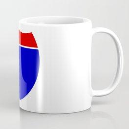 Interstate Sign Abstract Coffee Mug