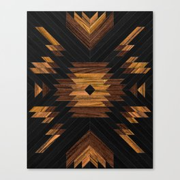 Urban Tribal Pattern No.7 - Aztec - Wood Canvas Print