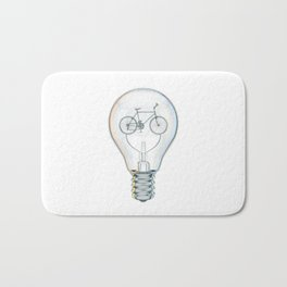 Light Bicycle Bulb Bath Mat