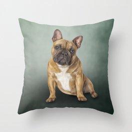 Drawing dog French Bulldog Throw Pillow