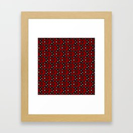 Kingdom Hearts III - Pattern - Red Framed Art Print