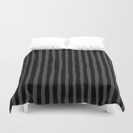 Black and Grey Stripe Duvet Cover