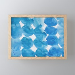 11  |  190408 Blue Abstract Watercolour Framed Mini Art Print