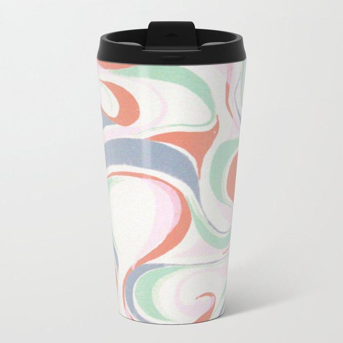 Abstract print design Metal Travel Mug