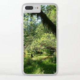 Hoh Rainforest Tones Clear iPhone Case