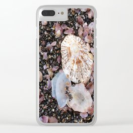 Shells at the beach Clear iPhone Case