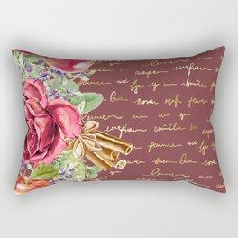 Elegant Christmas - burgundy rose Rectangular Pillow