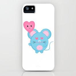 A Blue Rat in Love iPhone Case