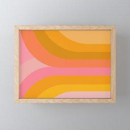 Retro Rainbow 89 Framed Mini Art Print