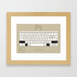 Photoshop Keyboard Shortcuts Brwn Opt+Shift Framed Art Print