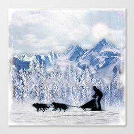 Dogsledding Canvas Print