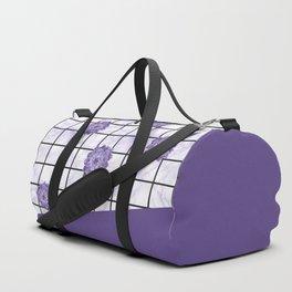 Succulents geometric composition - Ultra Violet Duffle Bag