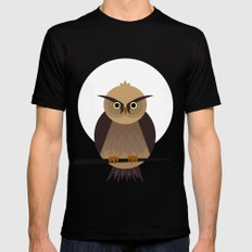 Owl  MEDIUM Mens Fitted Tee Black
