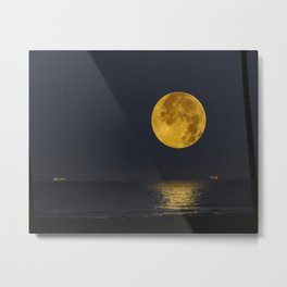 A Summer Full Moon Metal Print