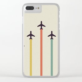 Airplanes Clear iPhone Case
