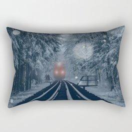 Snow Express Rectangular Pillow