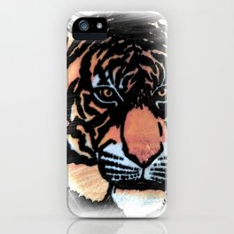 FADED TIGER iPhone Case