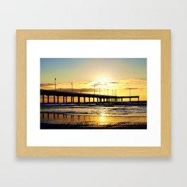 Sunrise in Port Aransas Framed Art Print