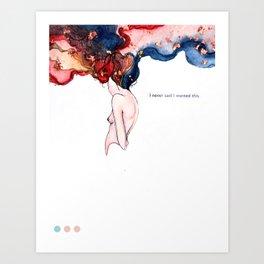 NEVERWANTEDTHIS Art Print