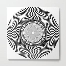 Op-art Circle Metal Print