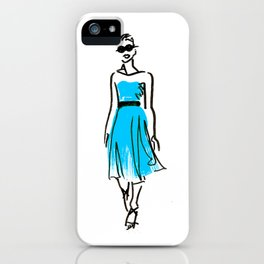 fashion sketch 1 iPhone Case