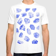 HEARTS White MEDIUM Mens Fitted Tee