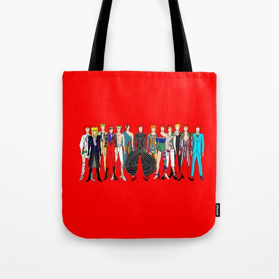 Red Bowie Group Fashion Outfits Tote Bag