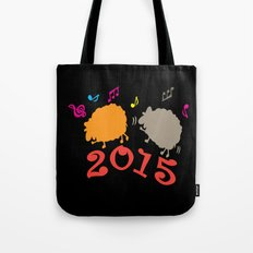 Dancing sheep 2015 year of the animal Tote Bag