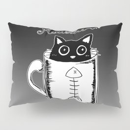 Hand Drawing Meowffee Pillow Sham