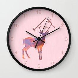 Urban Deer - Sunset Wall Clock