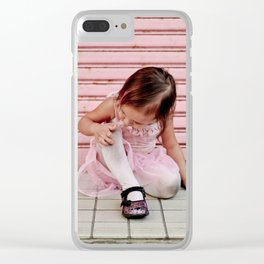 Pretty (Dirty) in Pink... Clear iPhone Case