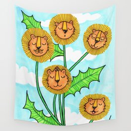 Dandy Lions Wall Tapestry