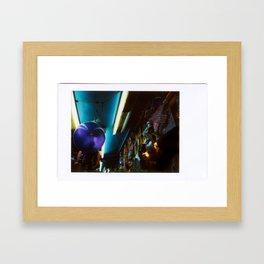 Fair booth Framed Art Print
