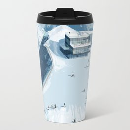 Skiing in Austria Metal Travel Mug
