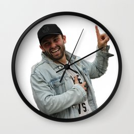 baker mayfield x Oklahoma Wall Clock