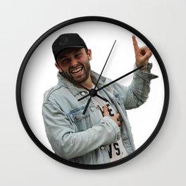 baker mayfield x Oklahoma Wall Clock