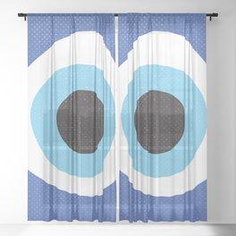 Evil Eye Symbol Sheer Curtain
