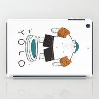 yolo iPad Cases featuring yolo by Louis Roskosch