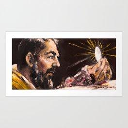 Corpus Christi. San Pío de Pietrelcina Art Print