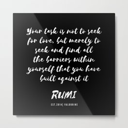 14   Rumi Quotes Good Vibes 190514 Metal Print