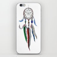 dreamcatcher iPhone & iPod Skins featuring Dreamcatcher by Ina Spasova puzzle